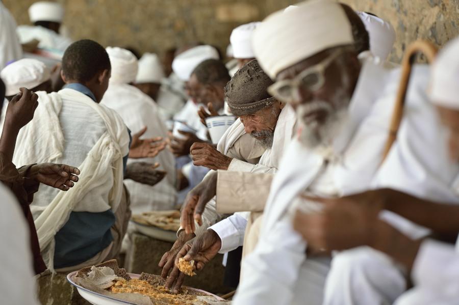 Nged, Eritrea, chiesa copta, festa, ingera