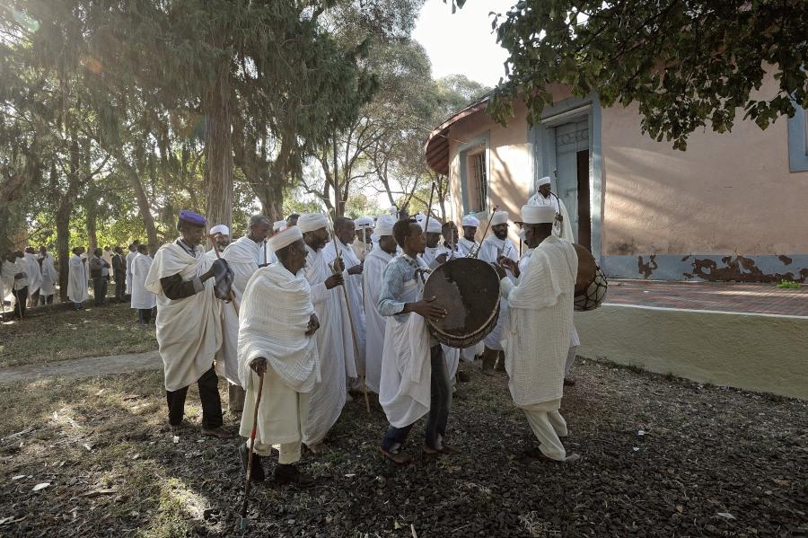 Nged, Eritrea, chiesa copta, festa