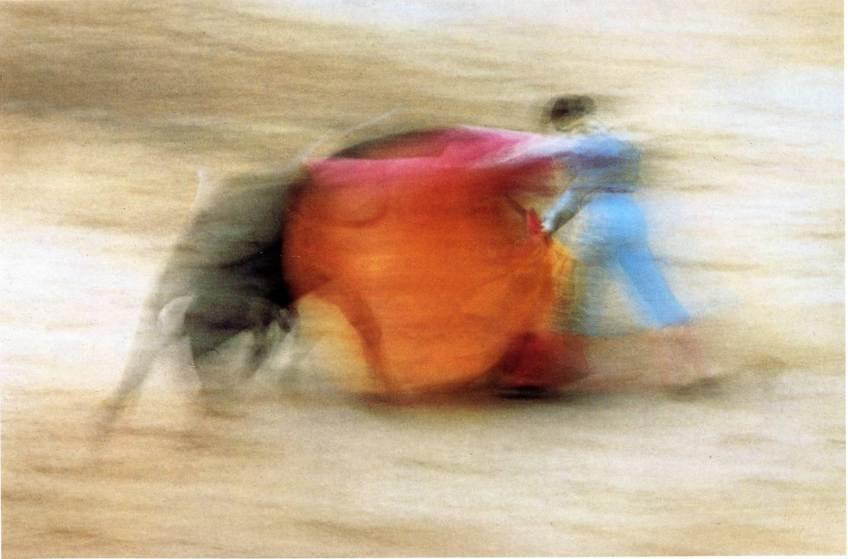 uno degli scatti 'mossi'  più famosi di E. Haas sulla corrida