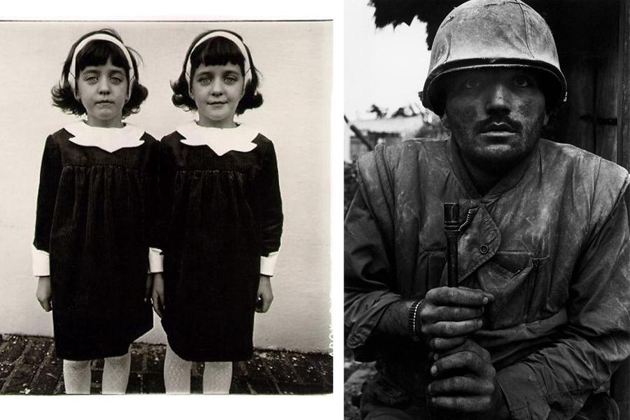 I 'gemelli' della Diane Arbus e il 'marines' di Don McCullin